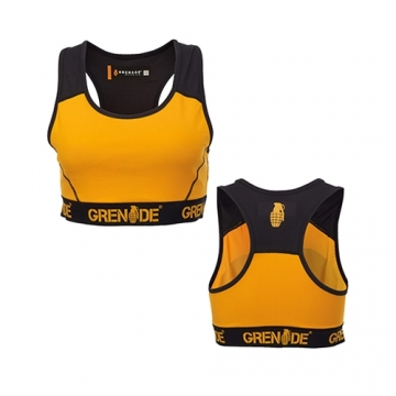 Grenade Sportswear Sports Bra (Orange/Black)
