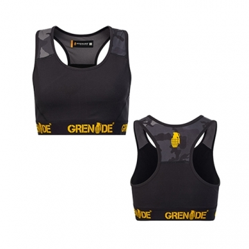 Grenade Sportswear Sports Bra (Black/Camo)