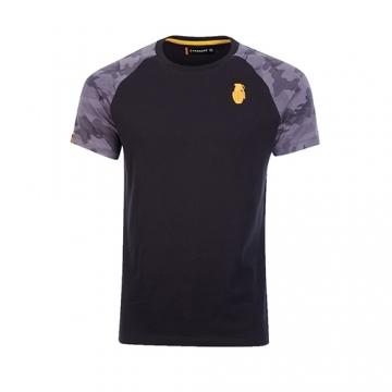 Grenade Sportswear Raglan Sleeve T-Shirt (Black/Camo)