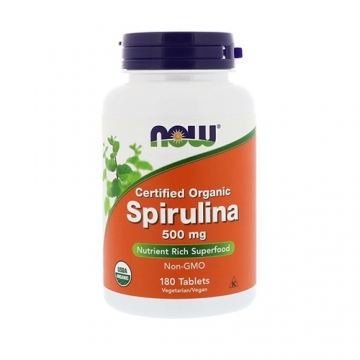 Now Foods Spirulina Certified 500mg (100)
