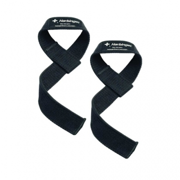 Harbinger Cotton Lifting Straps (Black)