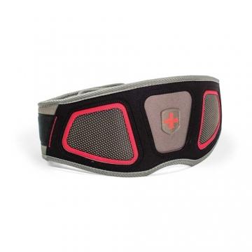 Harbinger Men's Contoured Flexfit Belt (Black/Red)