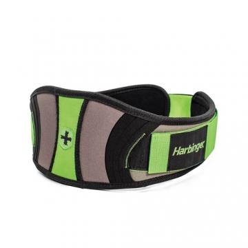 Harbinger Women's Contoured Flexfit Belt (Black/Green)