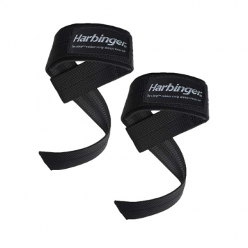 Harbinger Big Grip Padded Lifting Straps (Black)