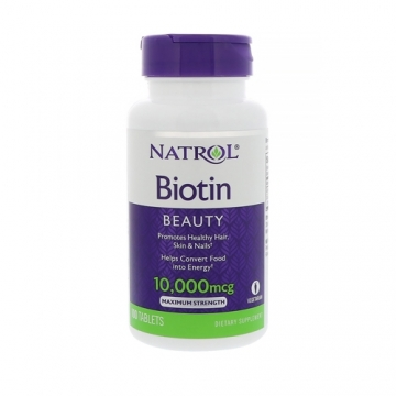 Natrol Biotin 10000mcg (100 Tabs)