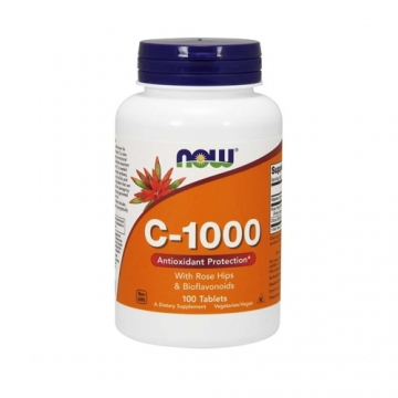 Now Foods Vitamin C-1000 with Rose Hips & Bioflavonoids (100 Tabs)