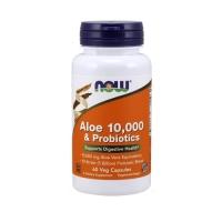 Now Foods Aloe Vera 10.000 & Probiotics (60 Caps)