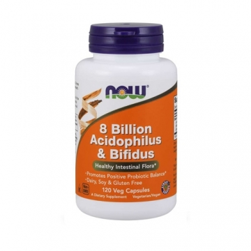 Now Foods 8 Billion Acidophilus & Bifidus (120 vcaps)