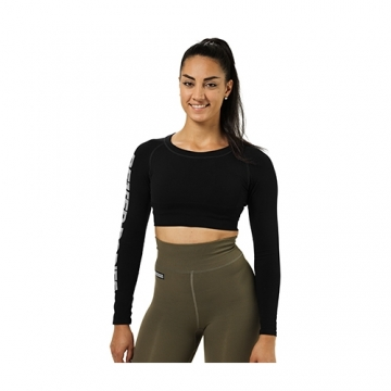 Better Bodies Bowery Cropped LS (Black)