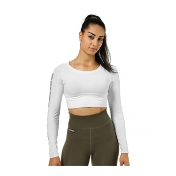Better Bodies Bowery Cropped LS (White)