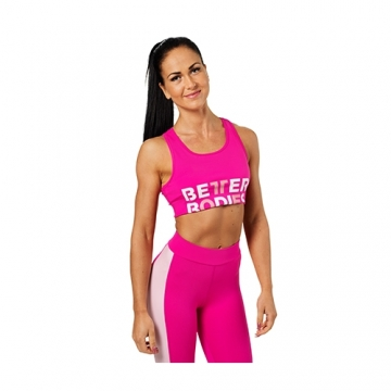 Better Bodies Bowery Sports Bra (Hot Pink)