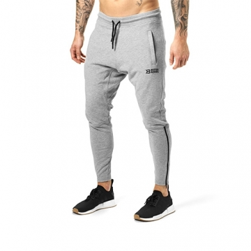 Better Bodies Harlem Zip Pants (Greymelange)
