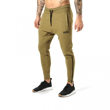 Better Bodies Harlem Zip Pants (Military Green)