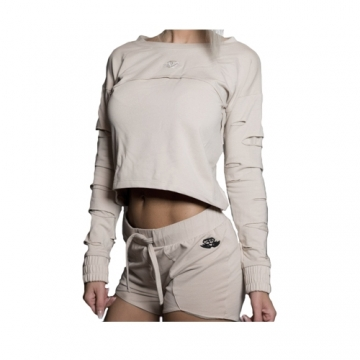 Body Engineers Double Destroyed Sweater (Beige)