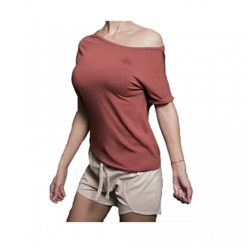 Body Engineers Drop Shoulder Tee (Light Terra Rose)