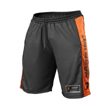 GASP No1 Mesh Shorts (Black/Flame)