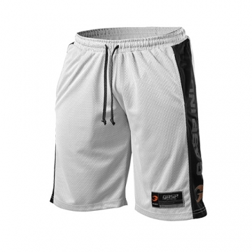 GASP No1 Mesh Shorts (White/Black)