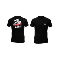 Peak Sportswear T-Shirt - Not here to talk (Black)