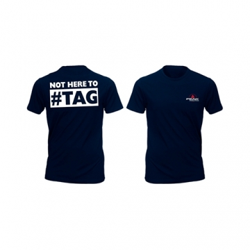 Peak Sportswear T-Shirt - Not here to hashtag (Black)