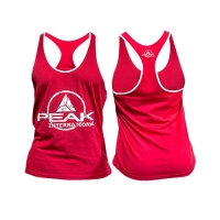 Peak Sportswear Men Stringer Tank Top (Red/White)