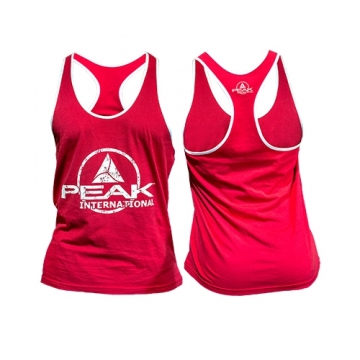 Peak Sportswear Men Stringer Tank Top (Red/White)