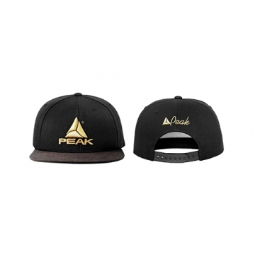 Peak Sportswear Snapback Cap (Black/Gold)