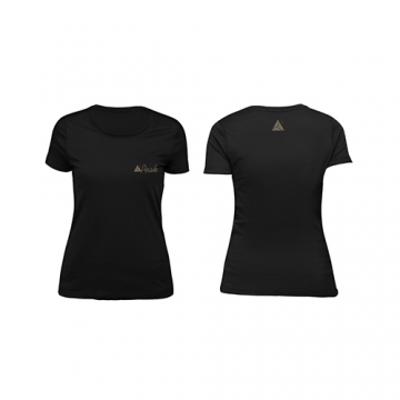 Peak Sportswear Woman T-Shirt - PEAK (Black/Gold)