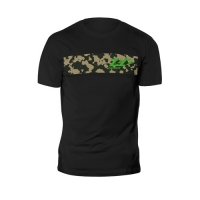 Zec+ Sportswear T-Shirt Camou Shirt Black Green Logo
