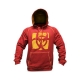Mutant Sportswear Contrast Stitch Hoodie (Burgundy/Yellow)