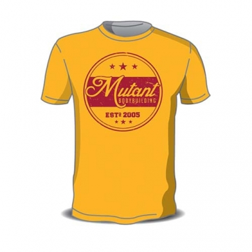 789b11e6 Mutant Sportswear Vintage Mutant Bodybuilding Tee (Yellow)