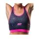 Musclepharm Sportswear Womens Dazzle Top Crop Top Black Pink (MPLTOP500)