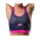 Musclepharm Sportswear Womens Dazzle Top Crop Top Black Pink (MPLTOP500)