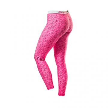 Musclepharm Sportswear Womens Matrix Tight Full Length Leggings Pink(MPLPNT517)