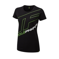 Musclepharm Sportswear Womens Outline Logo Tee Black-Green (MPLTS487)