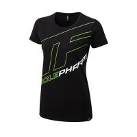 Musclepharm Sportswear Womens Outline Logo Tee Black-Green (MPLTS487)