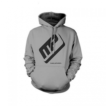 Musclepharm Sportswear Pullover Large Logo Hoodie Black Grey (MPSWT478)