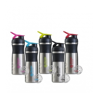Blender Bottle SportMixer Stainless (820ml)