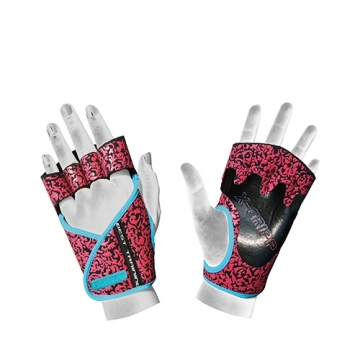 Chiba 40936 Lady Motivation Gloves (Black/Pink/Turquoise)