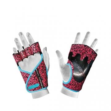 Chiba 40936 Lady Motivation Gloves (Black/Pink/Turquoise)