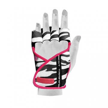 Chiba 40936 Lady Motivation Gloves (Black/White/Pink)