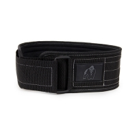 Gorilla Wear 4 Inch Nylon Belt (Black Gray)