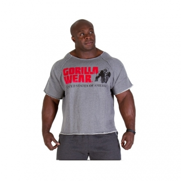 Gorilla Wear Classic Work Out Top (Grey Melange)