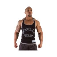 Gorilla Wear Logo Stringer Tank Top (Black)