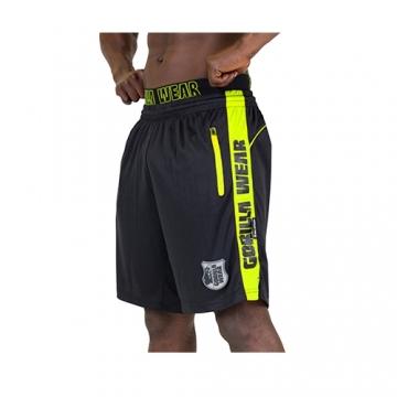 Gorilla Wear Shelby Shorts (Black/Neon Lime)