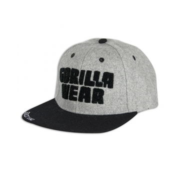 Gorilla Wear Soft Text Flat Brim (Gray)