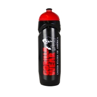 Gorilla Wear Sports Bottle (Black/Red)