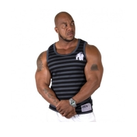 Gorilla Wear Stripe Stretch Tank Top (Black)
