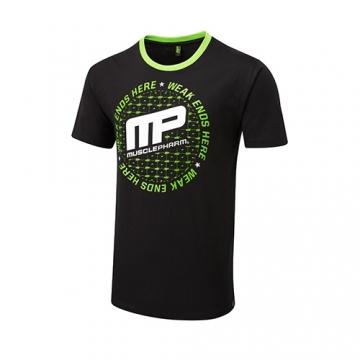 Musclepharm Sportswear Circular Logo Tee Black (MPTS483)