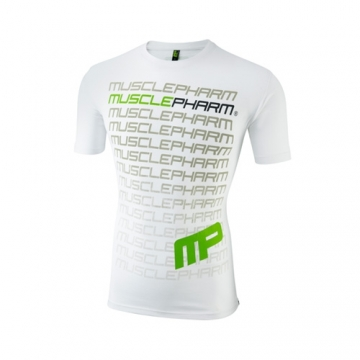 Musclepharm Sportswear Crew Neck Flagship Tee White (MPTS407)