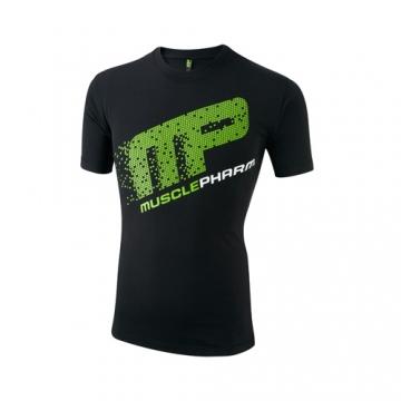 Musclepharm Sportswear Crew Neck Pixel Tee Black (MPTS403)